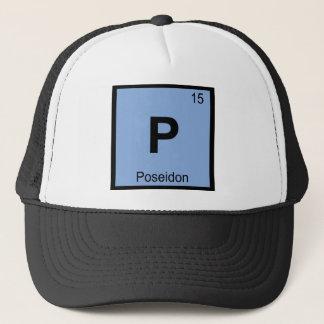 P - Poseidonの神化学周期表の記号 キャップ