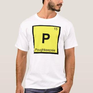 P - Poughkeepsieニューヨーク化学周期表 Tシャツ