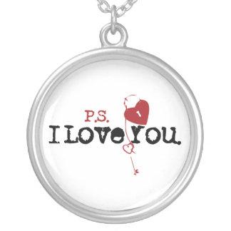P.S. 私は愛します シルバープレートネックレス