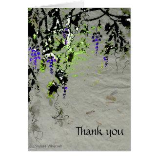 © P Wherrellの芸術的でスタイリッシュな紫色の藤 カード