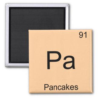Pa -パンケーキおもしろいな化学要素の記号のティー マグネット