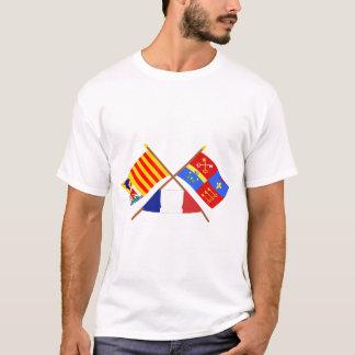 PACAおよびボークリューズの交差させた旗 Tシャツ