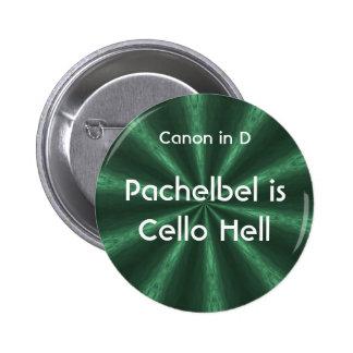 Pachelbelはチェロの地獄-ボタンです 5.7cm 丸型バッジ