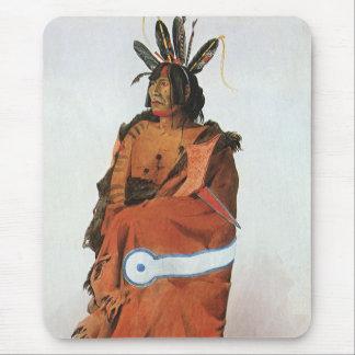 Pachtuwa-ChtaのBodmer著Arikaraの戦士のポートレート マウスパッド