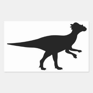Pachycephalosaurusの恐竜 長方形シール