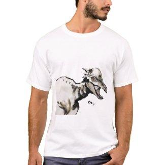 Pachycephalosaurus Sumi Art Tシャツ