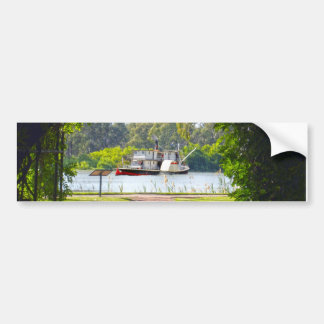 Paddle_Steamer_River_Murray_Bumper_Sticker バンパーステッカー