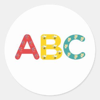 PaddleDuck著ABC ラウンドシール