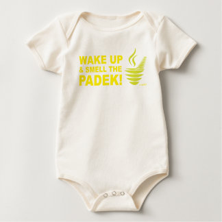 Padekを目覚め、かいで下さい ベビーボディスーツ