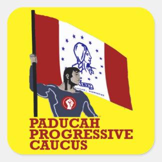 Paducahの進歩的な幹部会議: 旗手のステッカー スクエアシール