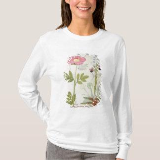 PaeoniaかシャクヤクおよびOrchisのmyanthos Tシャツ