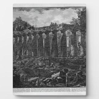 Paestum市の寺院の別の眺め、 フォトプラーク