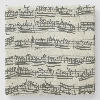 Paganini Moto Perpetuoのバイオリン音楽原稿 ストーンコースター