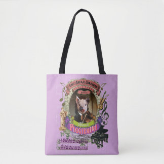 Paganini Piggieniniのおもしろいでかわいいブタの動物作曲家 トートバッグ