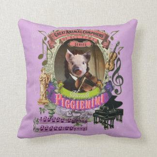 Paganini Piggieniniのかわいいブタの動物作曲家 クッション