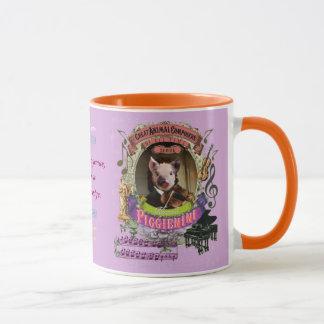Paganini Piggieniniのかわいいブタの動物作曲家 マグカップ