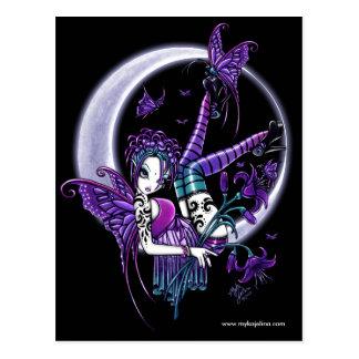 Paigeの入れ墨の月の花の妖精の郵便はがき ポストカード