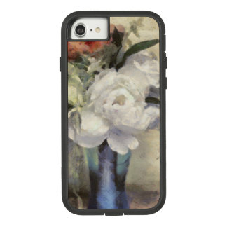 Painted Bridal Floral Bouquet Blue Vase Peony Case-Mate Tough Extreme iPhone 8/7ケース
