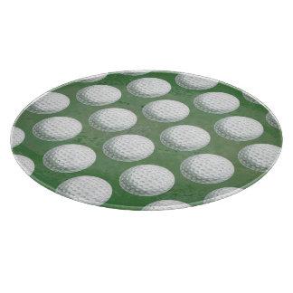 Painted Golf Ball Pattern カッティングボード