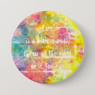 [Painter's Cloth]  Distressed Rainbow Tie-Dye 7.6cm 丸型バッジ