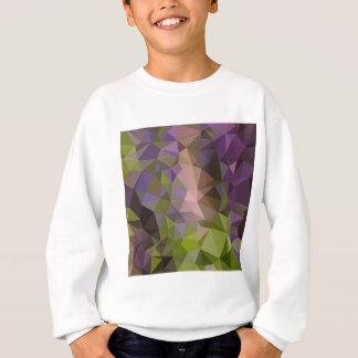 Palatinateの紫色の抽象芸術の低い多角形の背景 スウェットシャツ