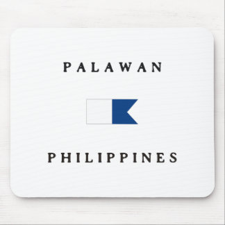 Palawanフィリピンのアルファ飛び込みの旗 マウスパッド