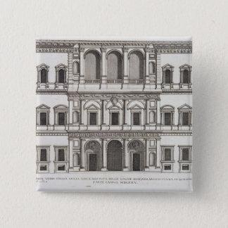 「Palazziディディミアムローマ」のからのPalazzo Farnese、部I、p 5.1cm 正方形バッジ