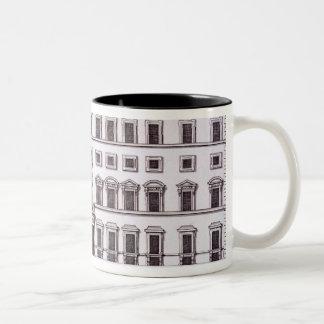 Palazzo Chigiの広場Colonna、「Palazziからのローマ、 ツートーンマグカップ