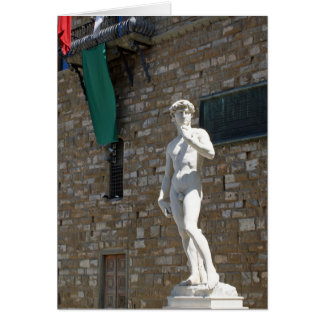 Palazzo Vecchioのデイヴィッドの彫像 カード
