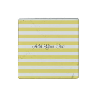 Pale Gold and White Stripes by Shirley Taylor ストーンマグネット