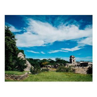 Palenqueのマヤの台なし ポストカード