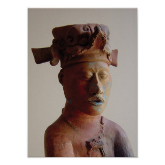 Palenqueの彫像 ポスター