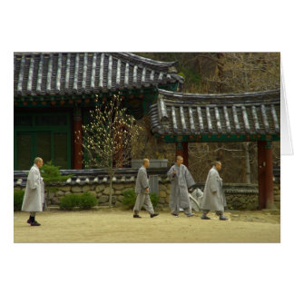 palgong山、南朝鮮の修道士 カード