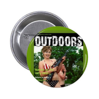 palinのアウトドアの雑誌のからかい 5.7cm 丸型バッジ