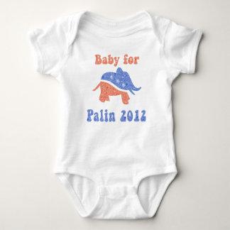 Palinの2012年のワイシャツのためのかわいいベビー ベビーボディスーツ