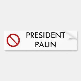 PALIN大統領無し バンパーステッカー
