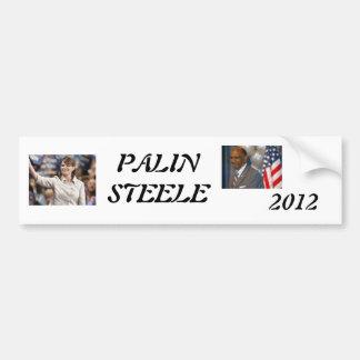 palin 2012年のsteele 1 2012年、PALINSTEELE バンパーステッカー