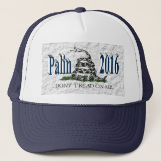 PALIN 2016の帽子、オーシャンブルー3D、白いガズデン キャップ