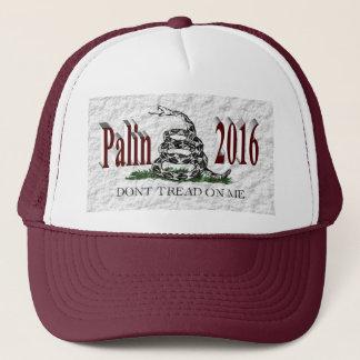 PALIN 2016の帽子、バーガンディ3D、白いガズデン キャップ