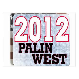 palinWESTの2012年のお茶会GOP ポストカード