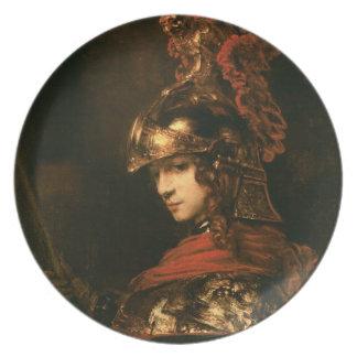 Pallasアテーナーか、装甲姿1664-65年 プレート