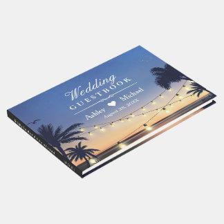 Palm Beachのひもは行先の結婚式をつけます ゲストブック