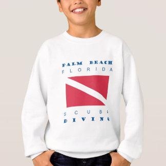 Palm Beachフロリダのスキューバダイビング スウェットシャツ