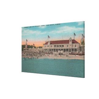 Palm Beach、FL -ブレーカCasinのOceanview キャンバスプリント