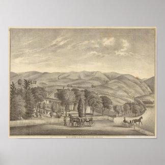 Palmer resのブドウ園 ポスター