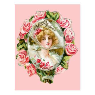 Palmersの香水のためのピンクのバラ ポストカード