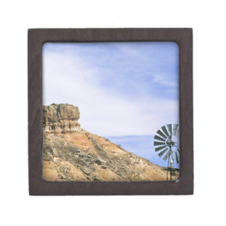 PaloのDuroのNA、米国、テキサス州の風車および崖 ギフトボックス