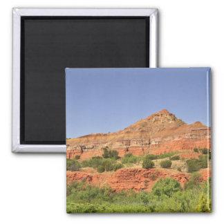 PaloのDuro渓谷、テキサス州。  連続的な石の層 マグネット