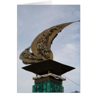 Palo、LeyteのLeyte湾の着陸記念碑 カード