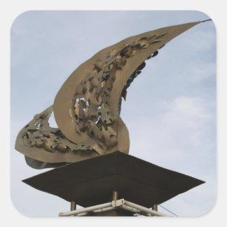 Palo、LeyteのLeyte湾の着陸記念碑 スクエアシール